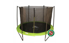 Батут DFC JUMP 10ft складной, c сеткой, цвет apple green