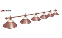 Светильник Fortuna Alison Red Bronze 6 плафонов