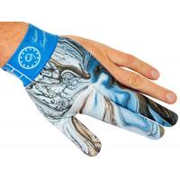 Перчатка на левую руку с принтом в голубых тонах, Longoni, Gustavo Torregiani